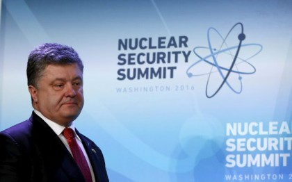 Ukraine President Poroshenko gives a briefing at Nuclear Security Summit in Washington