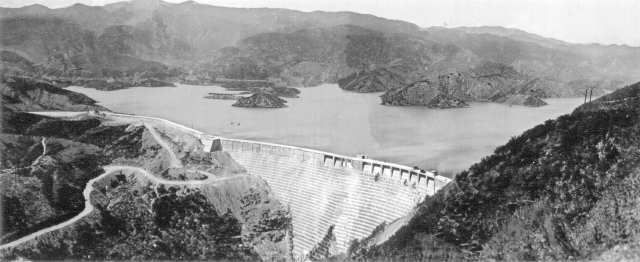 File photo of St. Francis Dam before its collapse.