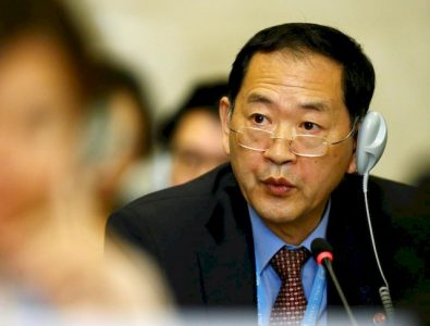 North Korea's ambassador to the United Nations Han Tae Song attends the Conference on Disarmament at the United Nations Office in Geneva, Switzerland September 5, 2017.  REUTERS/Denis Balibouse