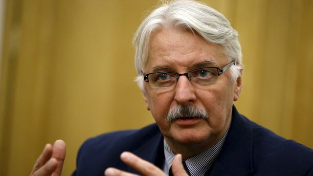 Poland's Foreign Minister Witold Waszczykowski speaks during an interview with Reuters in Warsaw, Poland December 30, 2015. Poland's new conservative government will stick to its predecessor's commitment to take in about 7,000 migrants despite the objections it raised when it was in opposition, Waszczykowski said. REUTERS/Kacper Pempel - GF10000281486