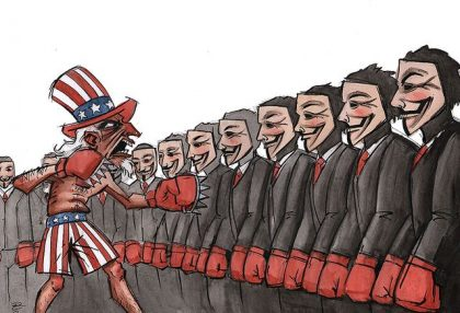 Uncle Sam vs. Anonymous